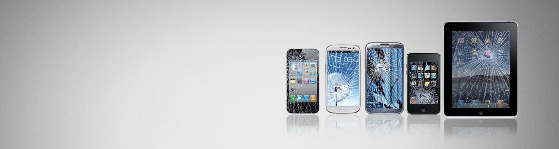 Vi utfører bytte av knust skjerm, reparasjon av mobiltelefoner og nettbrett